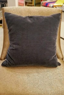 **ITEM NOW SOLD** Room and Board Mohair/Linen Pillow. Feather insert. Color : 'Ink'. Original List: $169.- Modeles Price: 85.-