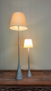 **ITEM NOW SOLD**Ligne Roset Lamps. Small: Bedside Lamp; 95.- Large: Table Lamp; 125.-