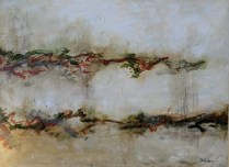 "Michele Harps. 'Neutral Ribbons'. 40"" x 30"". 1150.-"