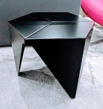 "Vitra 'Prismatic' table by Isamu Noguchi. Purchased from DWR in 2015. Powder coated aluminum. 16"" x 18.25"" x 14.75""h. Current List: $750. Modele's Price: 325.-"