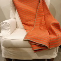 Orange Stripe Fuzzy Fussenegger Throw.