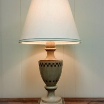 **ITEM NOW SOLD** Pair Nancy Corzine wood lamps. 495. pair.