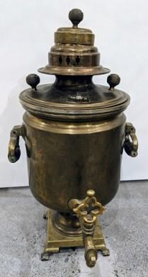"""Vintage samovar, purchased in Kazakhstan in 1997. 23""""h. 225.-"""