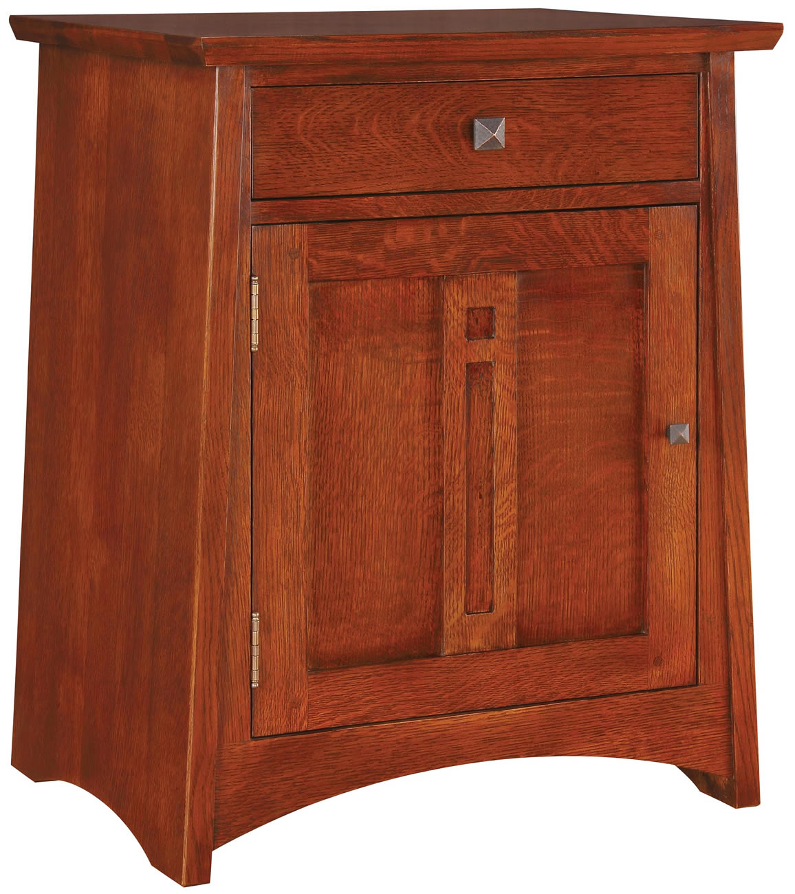 Smoked Italian Collection Mirror 3 Drawer Bedside Cabinet: Sideboards/Cabinets/Chests/Shelving