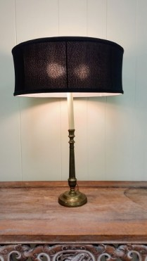 **ITEM NOW SOLD**Vintage Brass Lamp: 95.-