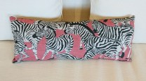 **ITEM NOW SOLD**Zebra lumbar pillow. Custom made. 20.-