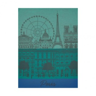 Le Jacquard Francais tea towel. 'Paris Panorama'. 100% cotton. 24.-
