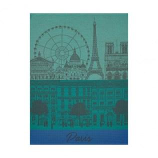 Le Jacquard Francais tea towel. 'Paris Panorama'. 100% cotton. 24.-