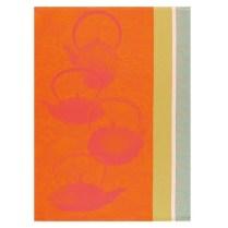 Les Jacquard Francais Traditional Tea Towel. Kumquat. 100% cotton. 24.-