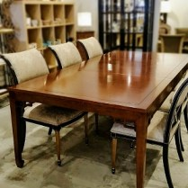 **ITEM NOW SOLD Baker dining table with leaves. 2,500.