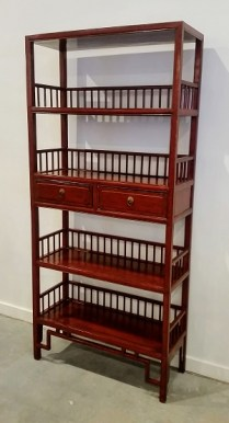 Lacquered Etagere. Purchased originally from Ming's Asian Gallery .695.-