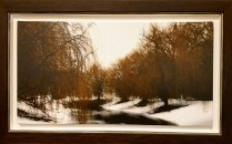 """**ITEM NOW SOLD** Framed Print on Canvas. Purchased from Dimensions frame and gallery in Bellevue, 2009. 36.25"""" w x 22.25""""h. Original Cost $715.- Modele's Price : 225.-"""