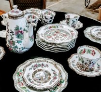 "** ITEM NOW SOLD** Vintage 26 Piece Coalport 'India Tree"" Dessert Set.Combined collection from different periods of production. 225. set"