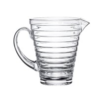 "'Aino Alto' pitcher, 1.25qt. 6.8""h. 165.- Available in clear only."