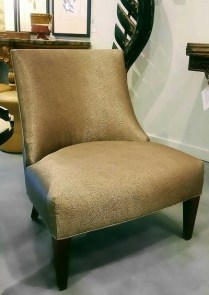 Slipper Chair. From Trammel-Gagne Showroom from Seattle Design Center. Original List: 1800.- Modele's Price: 950.-