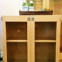 ** ITEM NOW SOLD.**Karl Andersson KA72 Cabinet Series.Purchased at Egberts in 2010 from Sweden. Birch Solid and Veneer with Glass Doors. List Price 2010.: $1600Modele's Price:595.-
