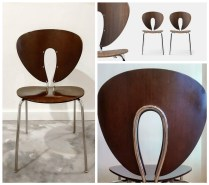 STUA 'Globus' Chairs (Spain) in discontinued Wenge Finish. Current List $395.- each. Modele's Price: 595.- /SET 4.