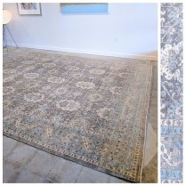 **ITEM NOW SOLD**Silk Road London mohair rug. Original Price: $15,750. Modele's Price: 6950.-