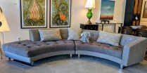 **ITEM NOW SOLD**DellaRobbia 'Shelbey' two piece sectional. Purchased from Designer Furniture Gallery at SDC. Original List $8000.-Modele's Price: 3150.-