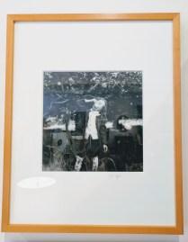 "Jacqueline Golding framed photograph. 'Ms. Apple'. C 1980's. Seattle Photographer. 16.75"" w x 20.75""h 225.-"