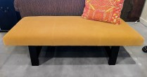 **ITEM NOW SOLD** Custom Mohair Bench. New in 2009. 325.-