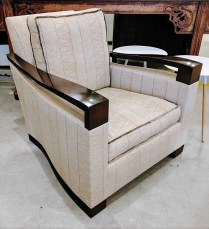 Donghia Chair. Purchased in 2009. Custom upholstery. Comparable new price: $4000.- Modele's Price: 1,500.-