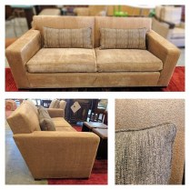 Donghia Sofa, Purchased in 2009. Has some sun fading. Lumbar cushions included. Custom upholstery. Comparable price new.:$7000.-+. Modele's Price: 1,750.-