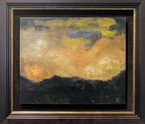 "Ed Kamuda Untitled. Oil on board. Currently represented by Harris Harvey Gallery on 1st Ave. 15.75"" x 14"" 395.-"
