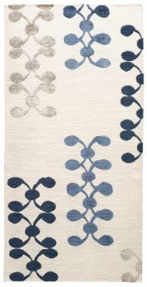 Judy Ross 'Celine' runner, 3' x 10'. Tibetan wool and Chinese silk content. Current List: $3,370.- Modele's Price: 1695.-