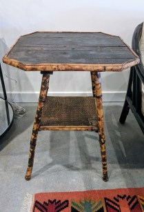 Antique Bamboo table. Purchased from English country antiques in NY. Original List: $650.- Modele's Price 175.-