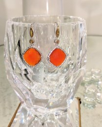 Earrings by Tacori. Sterling silver and 18k yellow gold with red quartz. Modern. 375.-