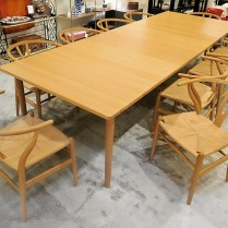 **ITEM NOW SOLD** Brodrene Andersen dining table #277. Made in Denmark. Purchased at Egberts in 1997, beautiful condition! Solid white oak. Includes two solid oak leaves. Seats up to 10. List price in 2011: $6500.- Modele's Price: 2975.-