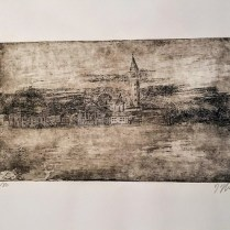 """Etching of Venice by Venetian artist. Alessandra D'Agnolo. 14"""" x 9.5"""" 58.50"""