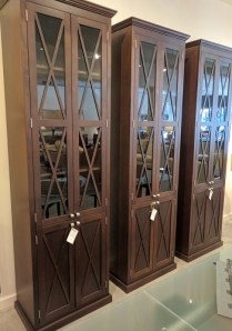 Custom designed/built cabinets.Fixed shelf with 3 adjustable shelves. Original $4000.- Each. Modele's Price: 950.- Each