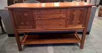 """**ITEM NOW SOLD** Stickley solid cherry sideboard. Purchased in 2000. Locking doors, felt silverware storage. 60""""w x 21.75""""d x 38.5""""h. 1195.-"""