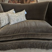 "**ITEM NOW SOLD** Custom mohair sofa by JJ Custom in L.A. Five years old, very light use. Mohair fabric sells for over $400. per yard 79""w x 37.5""d x 35.25""h Orig. List: $10,000.+ Modele's Price: 1950.-"