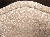 "**ITEM NOW SOLD** Custom full headboard covered in wonderful Fortuny cotton. 56.25""w x 40.25""h 695.-"