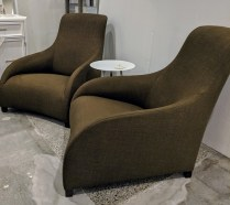 """**ITEM NOW SOLD** Pair B&B Italia MaxAlto 'Kalos' chairs. Approx. 9 years old. 29.75""""w x 42""""d x 35.25""""h. Current List starts at $3,409 each. Modele's Price: 1850.- pair"""