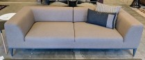 """**ITEM NOW SOLD** Della Robbia 'Taylor' sofa, purchased in 2013. Felted wool, just cleaned by D.A. Burns. Includes two throw pillows. 88.5""""l x 38""""d x 26.5""""h. Original List: $3,121. Modele's Price: 1750.-"""