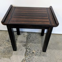 "**ITEM NOW SOLD** Christian Grevstad Collection side table with Macassar Ebony veneer. 18""w x 12""d x 18.25""h Orig. List: over $1,500. Modele's Price: 750.-"