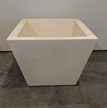 """**ITEM NOW SOLD** Serralunga large square pot in white. Only one available, never used. 22.5"""" sq. x 18""""h. 175.-"""