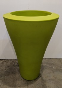 """**ITEM NOW SOLD** Serralunga tall Ming pot, never used. Available in green, white, red. 26""""d. x 39.25""""h. Orig. List: $625. Modele's Price: 195. each BUY TWO, GET ONE FREE (equal or lesser value)"""