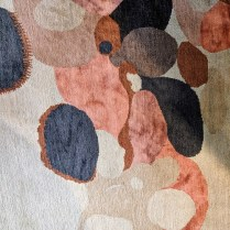 Detail of custom wool/silk rug, hand-knotted in Nepal. Never used in a home. 8' x 10' Orig. List: $6,800. Modele's Price: 2950..-