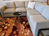 "**ITEM NOW SOLD** Room & Board 'Max' 3-pc. sectional. Purchased March 2015. 97"" x 97"". Orig. List: $3297. Modele's Price: 1395.-"