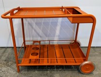 "**ITEM NOW SOLD** Fermob 'Luxembourg' outdoor bar cart. Lacquered aluminum, removable tray top. 39""l x 19.25""w x 29.25""h. Current List: $1,089. Modele's Price: 450.-"