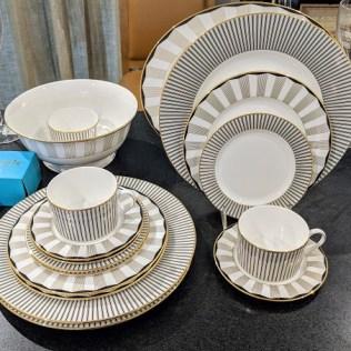 62 piece Lenox 'Audrey' china set. Never used. 12; five-pc. place settings plus 2 serving pieces. Current List: $2000. Modele's Price: 650.- set