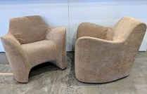 """**ITEM NOW SOLD** Pair Driade 'Tokyo Pop Soft' chairs, designed by Tokujin Yoshioka. Discontinued style. 34""""w x 32""""d x 30""""h. 595.- pair REDUCED! NOW 50% OFF: 297.50 PR."""