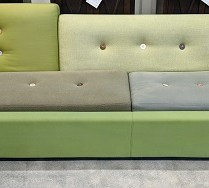"**ITEM NOW SOLD** Vitra 'Polder' sofa. Designed by Hella Jongerius. 8 years old. 115.25""l x 40""d x 30.5""h. Current List: $8,430.- Modele's Price: 1950.-"