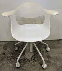 """**ITEM NOW SOLD** Driade 'Spin' desk chair; adjustable height, caster base. Never used. 27""""w x 23.25""""d x 31""""-35""""h. Orig. List: $599. each Modele's Price: 195.- each"""