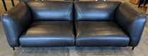 """Roche Bobois 'Lobby' Large 3-Seat sofa. Three years old, beautiful condition. Saddle leather/wool. 83""""w x 36""""d x 28""""h. Current List: $11,170. Modele's Price: 3950.-"""